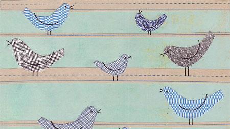 'Bird Confidential' fabric