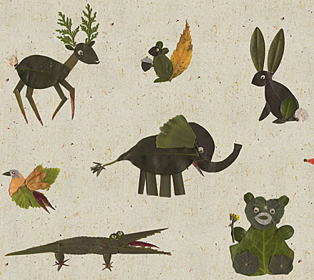 Leif's Zoo fabric