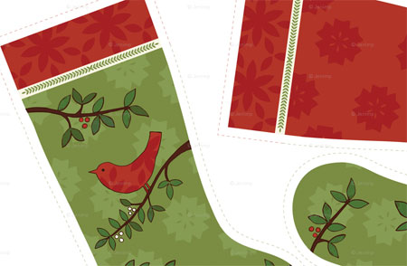 Spoonflower stocking kit design