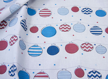 Starry Lanterns fabric
