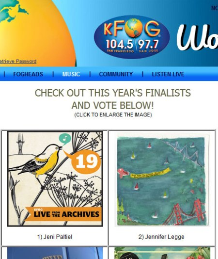 KFOG Live from the Archives finalists 2012