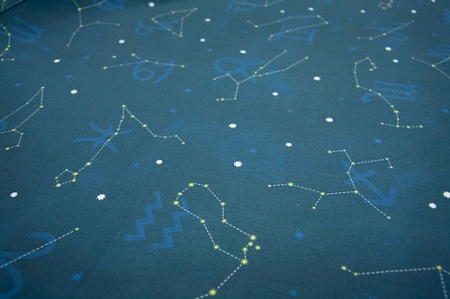 Written in the Stars fabric at Spoonflower