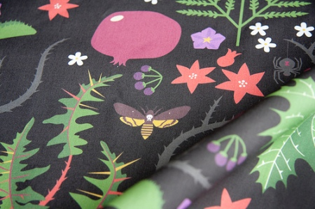 Persephone's Garden fabric by Jeni Paltiel at Spoonflower