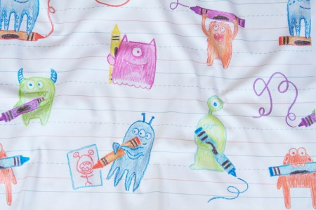 Doodle Monsters fabric by Jeni Paltiel. Photo by Spoonflower via Flickr.