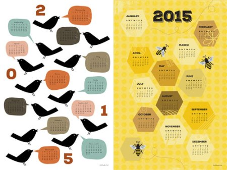 Tea towel calendars by Jeni Paltiel/Lellobird